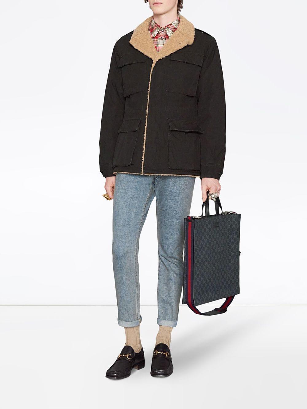 c26c8ff7bd0bc0 Lyst - Gucci GG Supreme Tote Bag in Black for Men - Save 14.806201550387598%