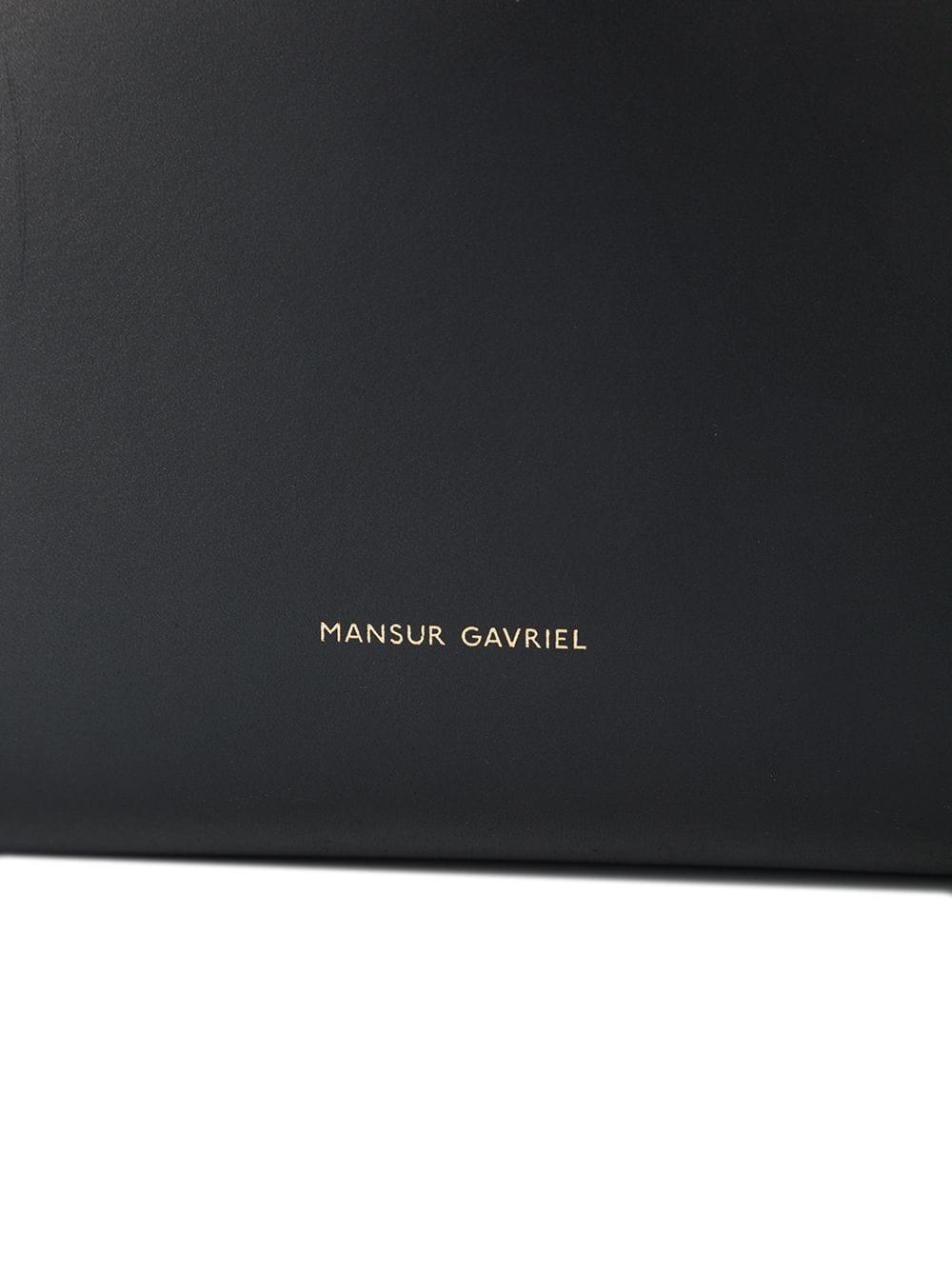 Mansur Gavriel Leather Bucket Bag in Black