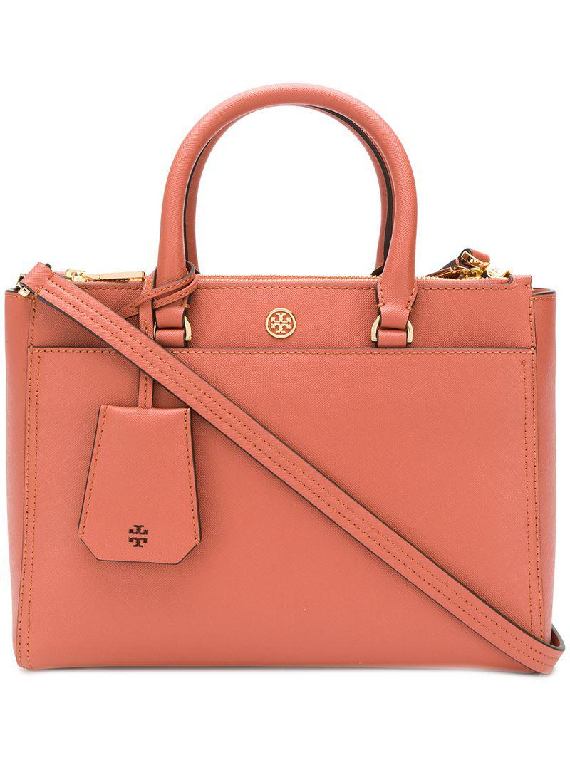 797ca355ad3 Lyst - Tory Burch Robinson Small Double-zip Tote in Pink