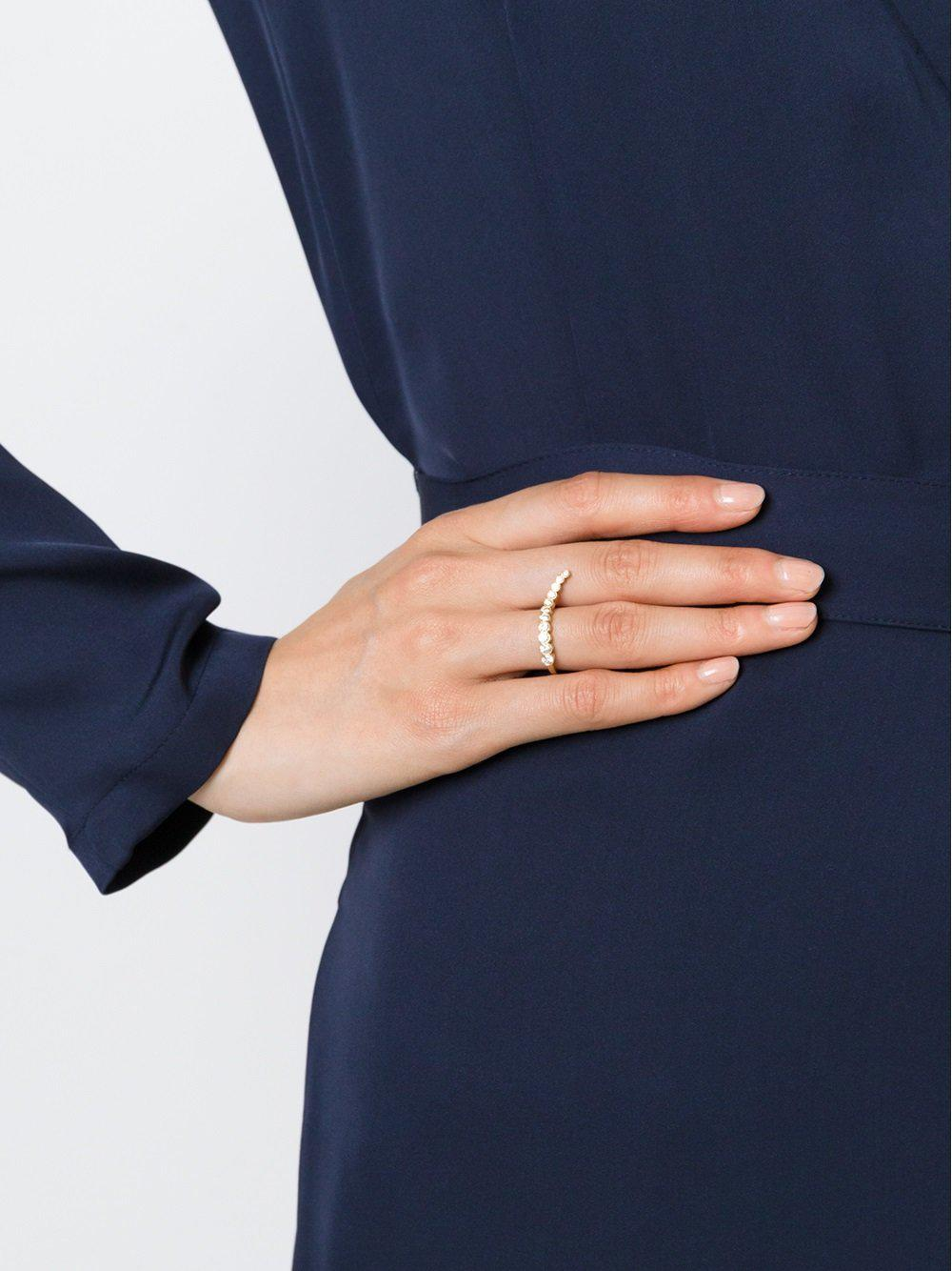 Sophie Bille Brahe 'moon Stairs' Ring in Metallic