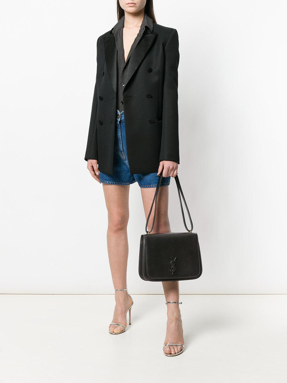 0d5c9a4ea8 Lyst - Saint Laurent Medium Spontini Satchel Bag in Black