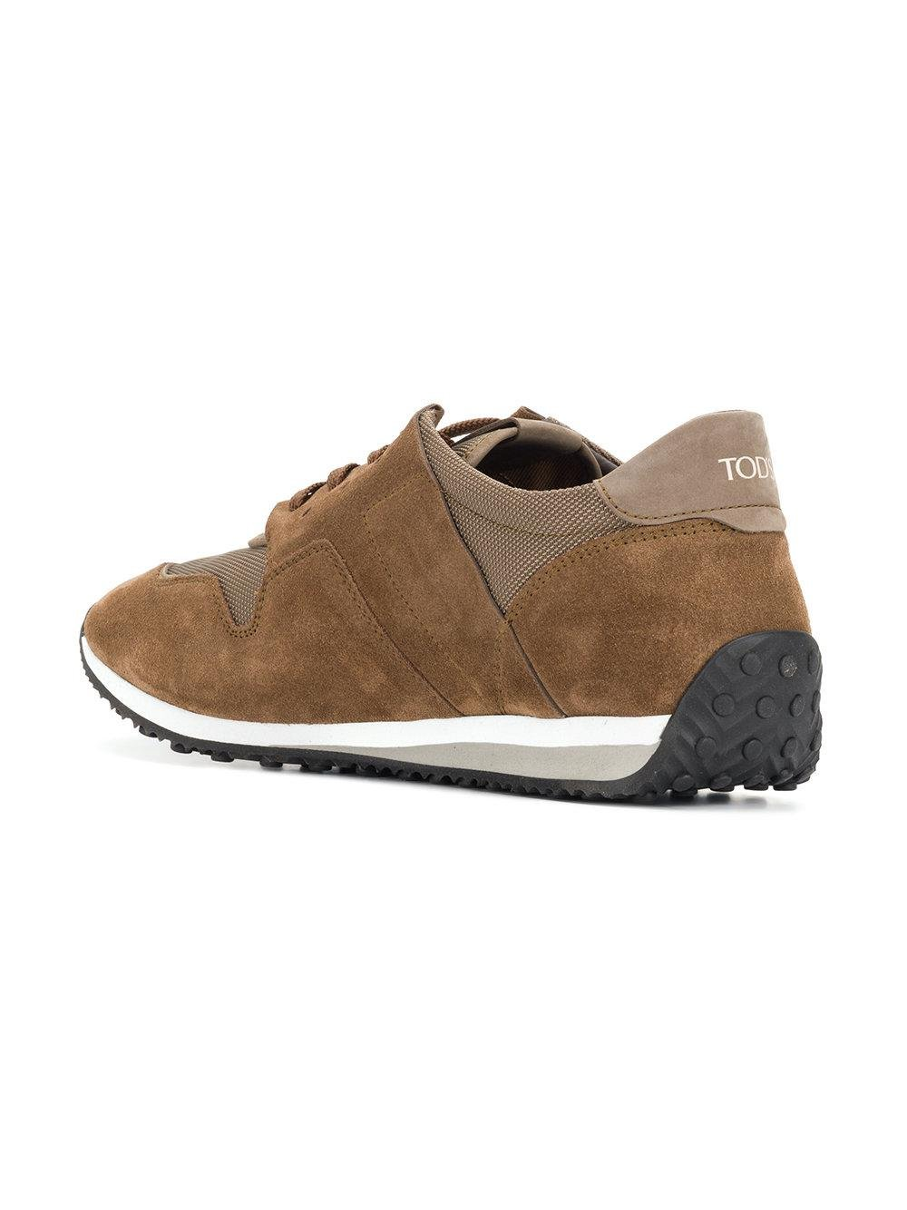 panelled lace-up sneakers - Brown Tod's p34629E9