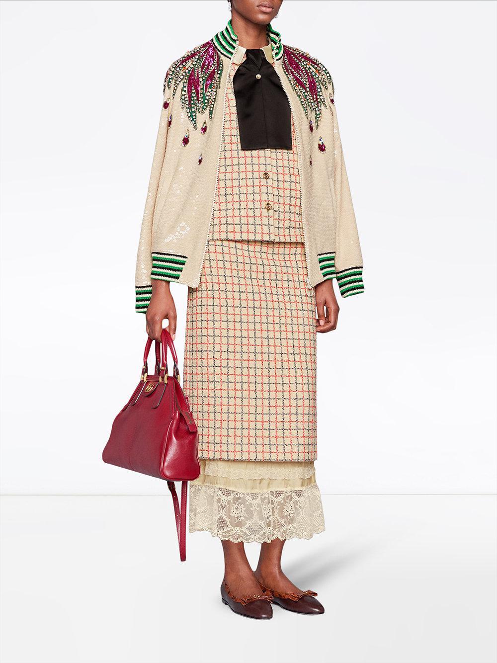 Lyst - Grand cabas à poignées RE(BELLE) Gucci en coloris Rouge ... a88186a9f57