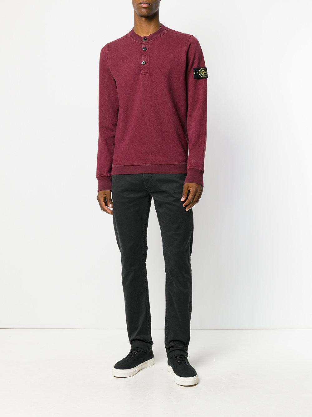 Stone Island Denim Straight-leg Jeans in Black for Men