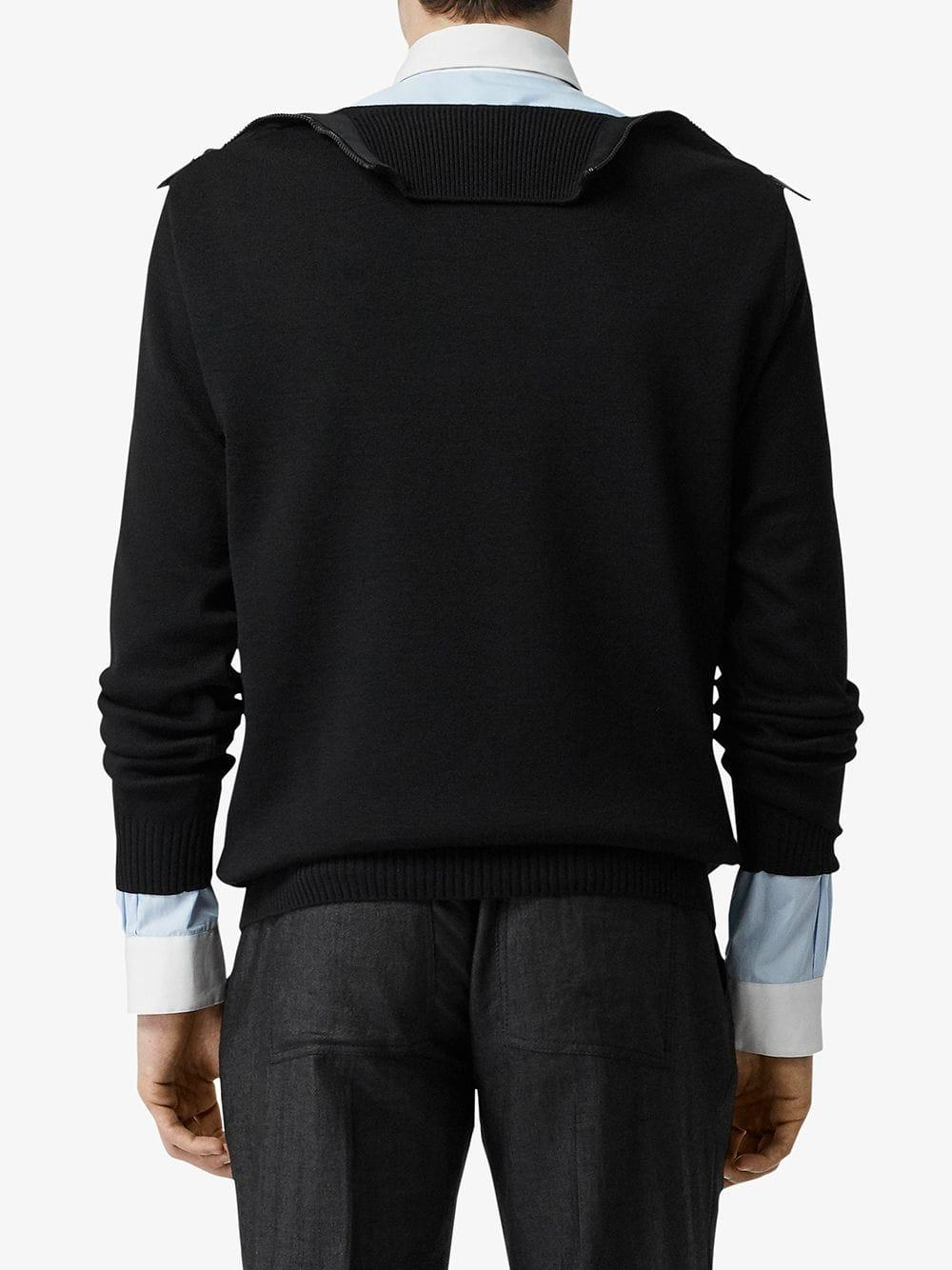 Burberry Wolle Pullover mit Rollkragen in Schwarz für Herren