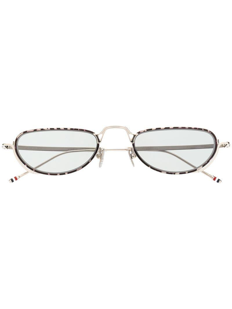 1fd74fabba40 Thom Browne Silver   Grey Tortoise Sunglasses in Metallic for Men - Lyst