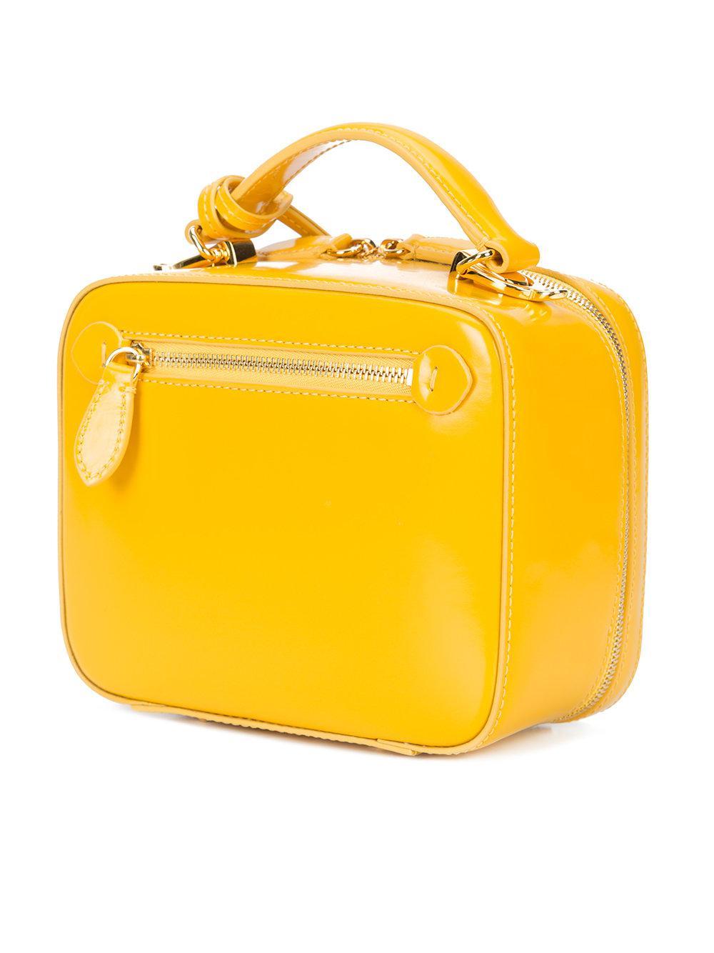 Mark Cross Leather Baby Laura Tote Bag in Yellow & Orange (Yellow)