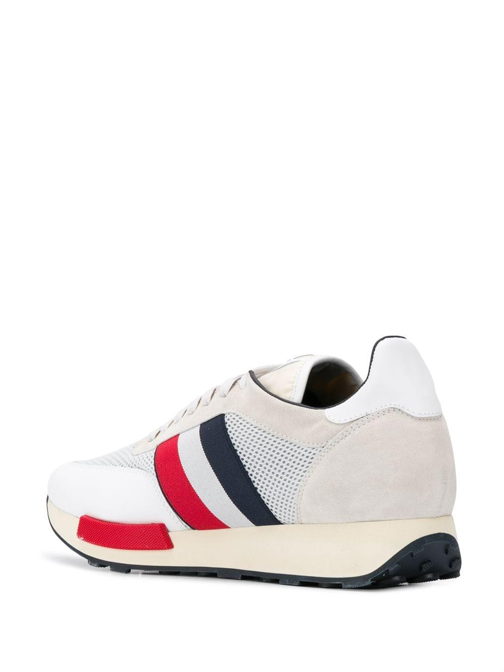 Zapatillas con paneles de malla Moncler de Cuero de color Blanco para hombre