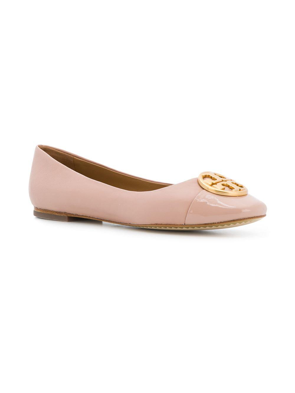 5e1bac2ca63e Lyst - Tory Burch Chelsea Cap Toe Ballet Flats in Pink - Save 51%