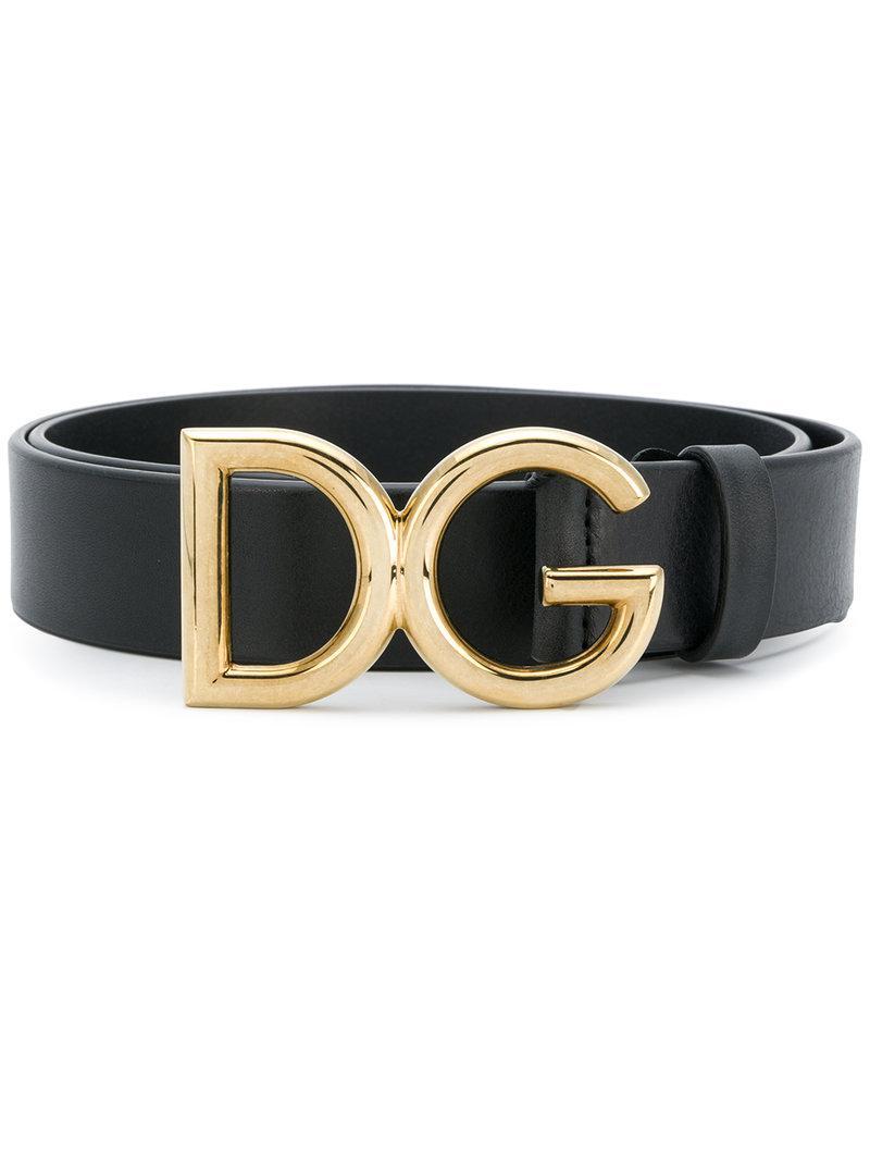 Lyst - Ceinture à boucle logo Dolce   Gabbana pour homme en coloris Noir f635b4025c6