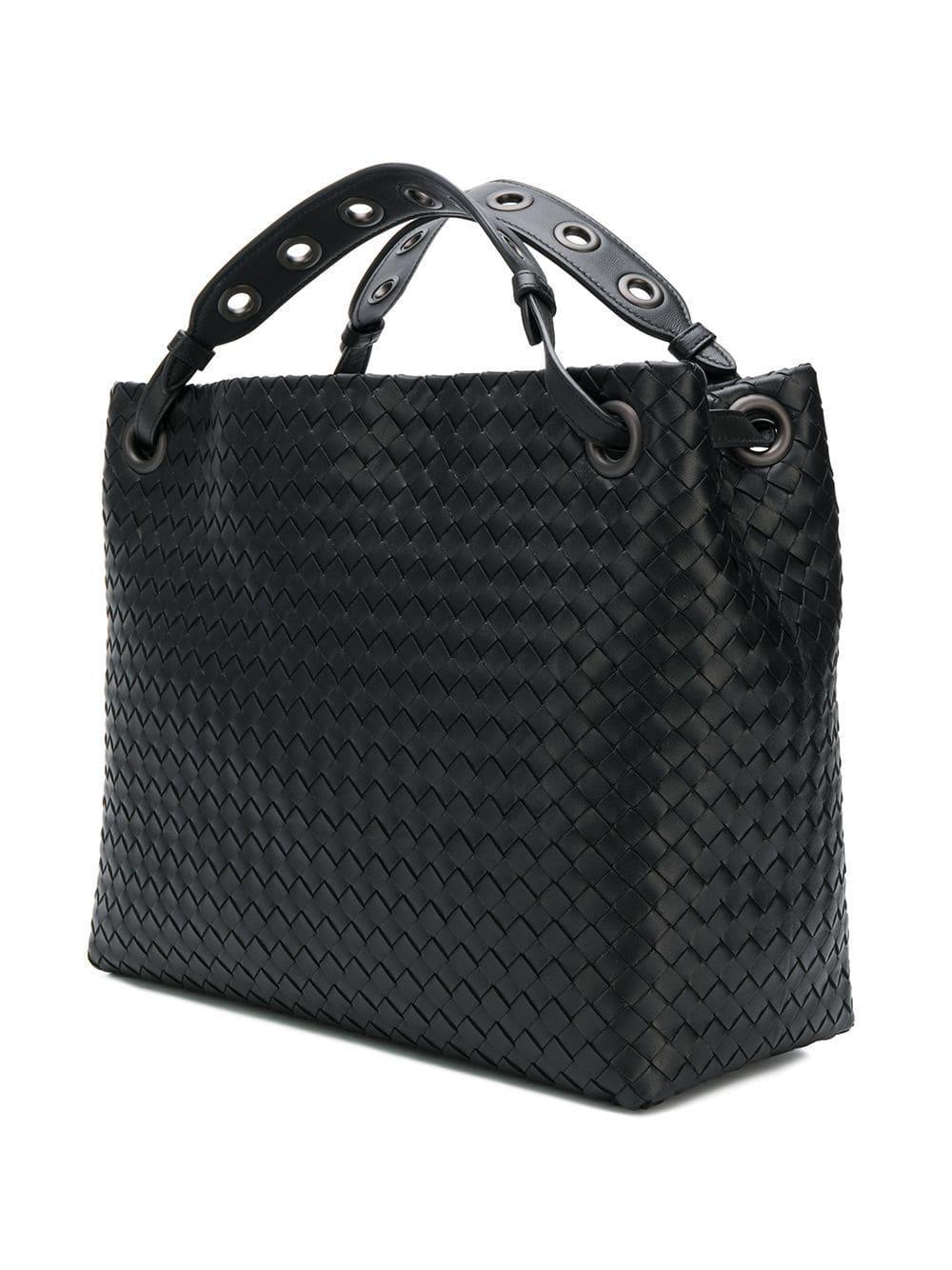 6e0fa3a531 Bottega Veneta Garda Tote Bag in Black - Lyst