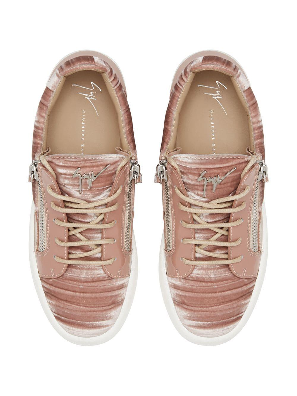 Zapatillas Gail con diseño de paneles Giuseppe Zanotti de Cuero de color Rosa