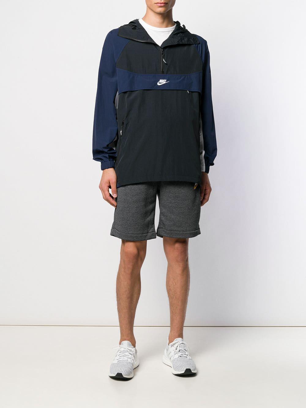 Nike Synthetisch Jas Met Capuchon in het Zwart voor heren