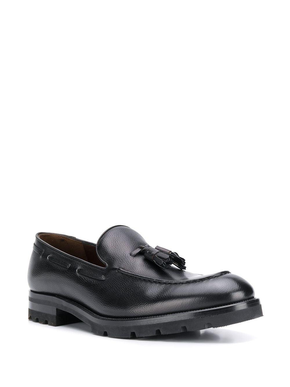 Fratelli Rossetti Leer Getextureerde Loafers in het Zwart voor heren