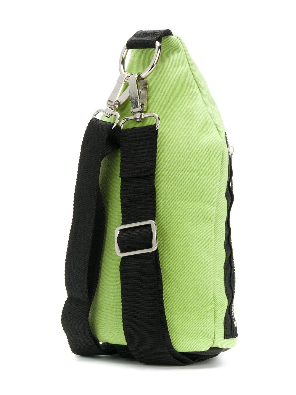 Blood Brother Cotton Rave Culture Crossbody Bag in Green for Men