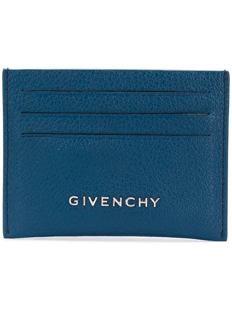 Cardholder Blue Lyst Blue Givenchy Logo Givenchy BIzaXwqE