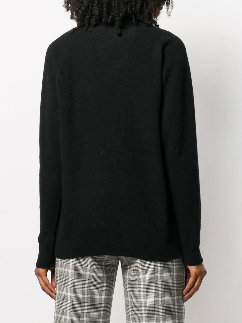 Jersey de punto con cuello alto Roberto Collina de Lana de color Negro