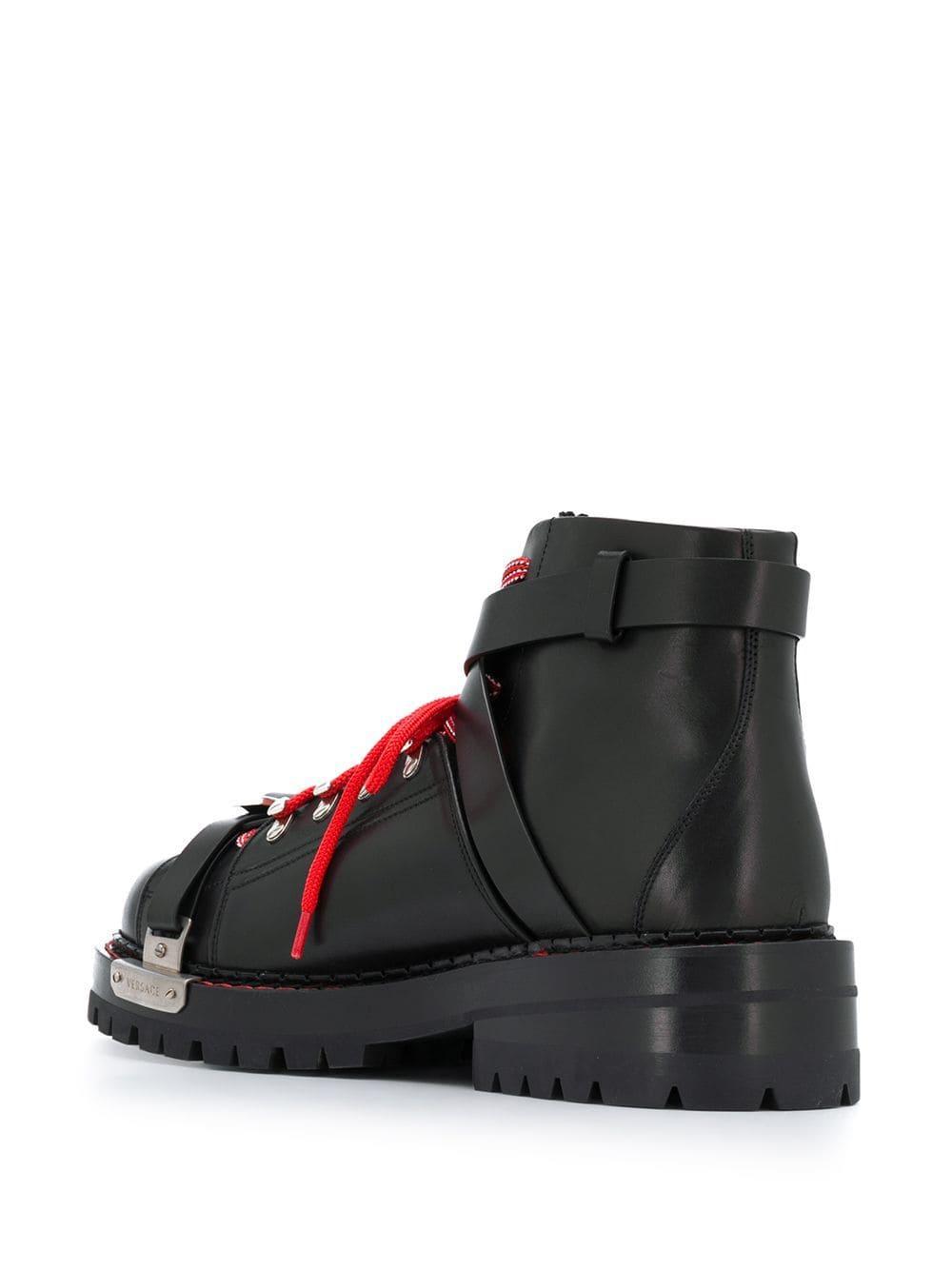 Botas militares Versace de Caucho de color Negro para hombre