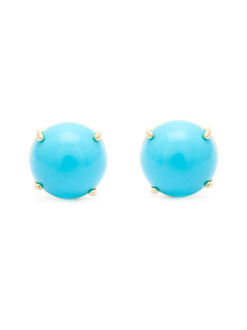 Irene Neuwirth turquoise stud earrings - Blue UxDtM1xib5