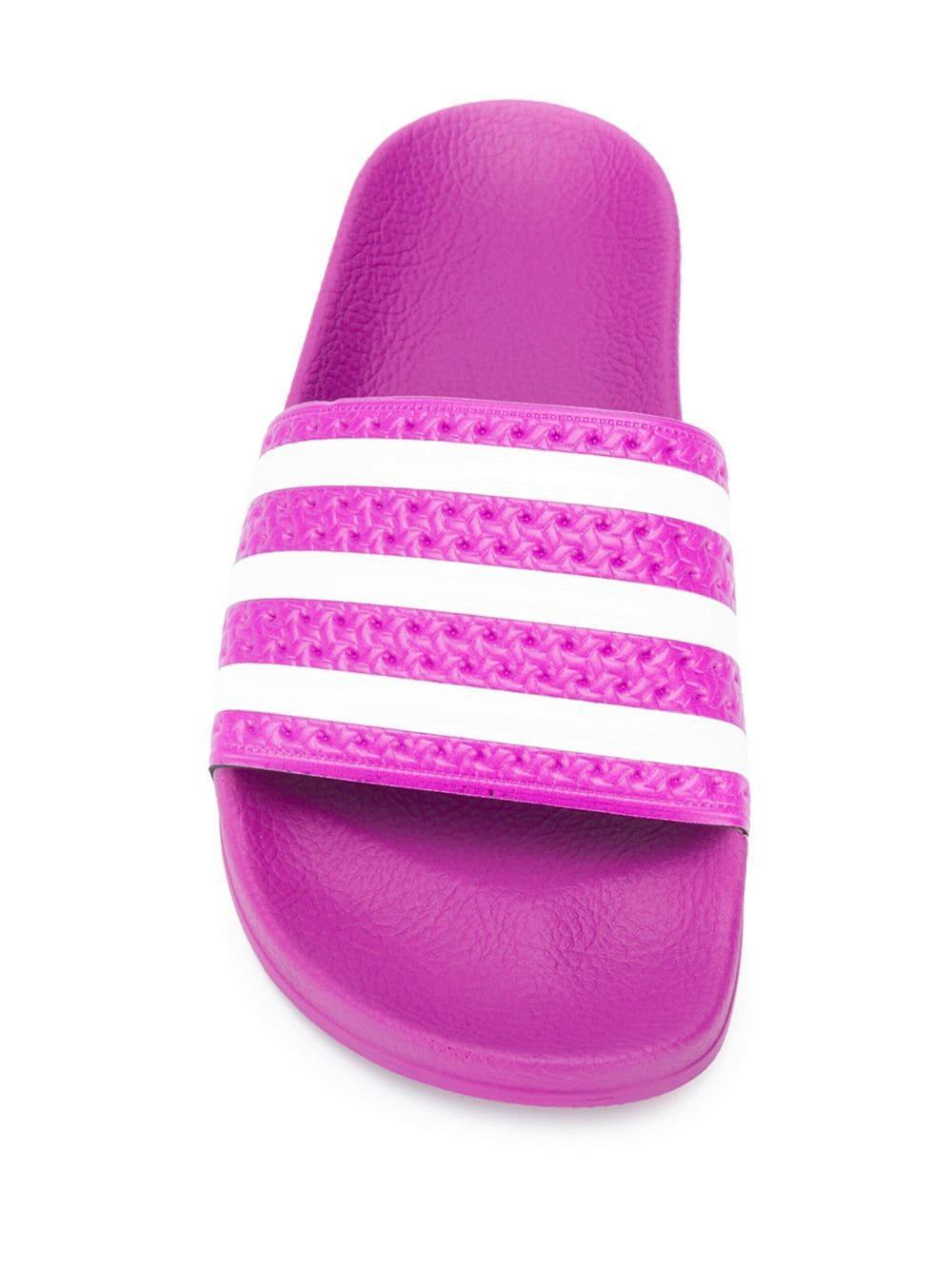1eb7ab071e66 Adidas - Pink Originals Adilette Stripe Slides - Lyst. View fullscreen