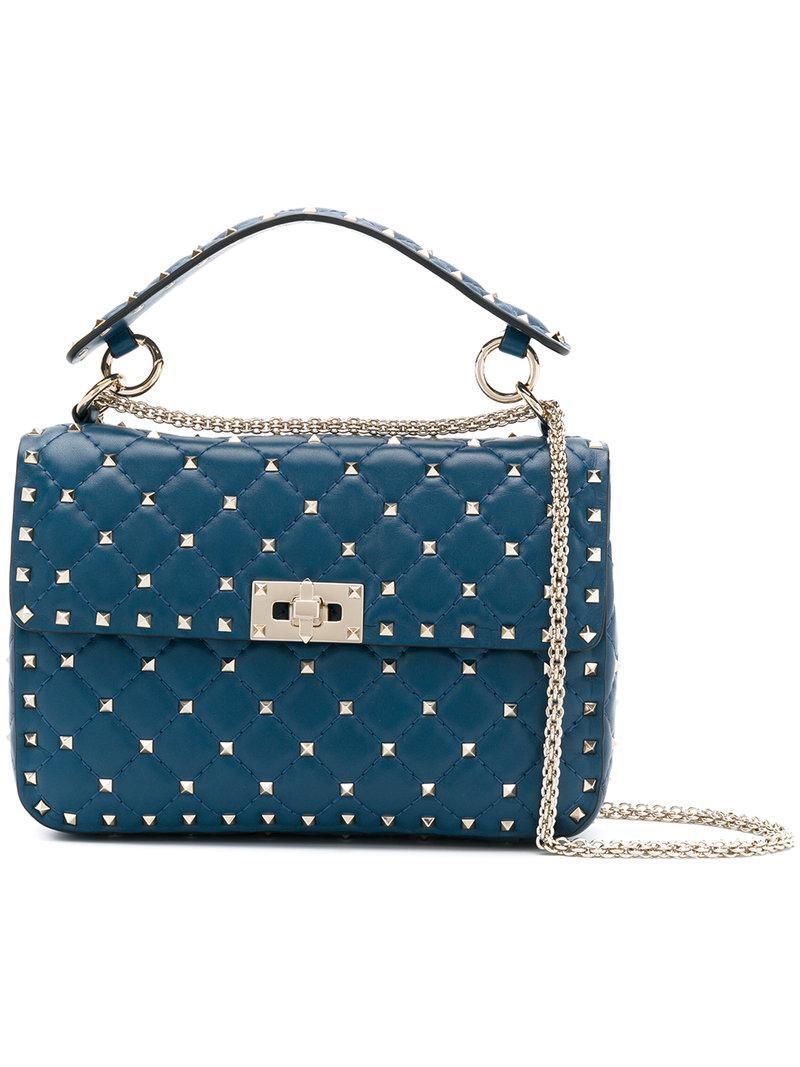 Valentino Leather Garavani Rockstud Spike Crossbody Bag In