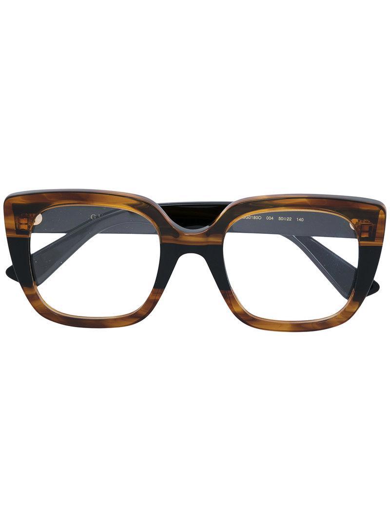 47d9ef3d7b3 Lyst - Gucci Square Frame Glasses in Blue