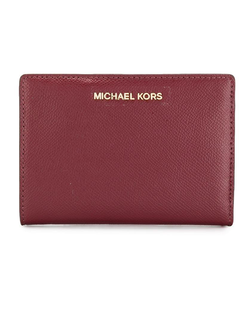 108aa0e788aa5 Michael Michael Kors Jet Set Slim Wallet in Red - Lyst