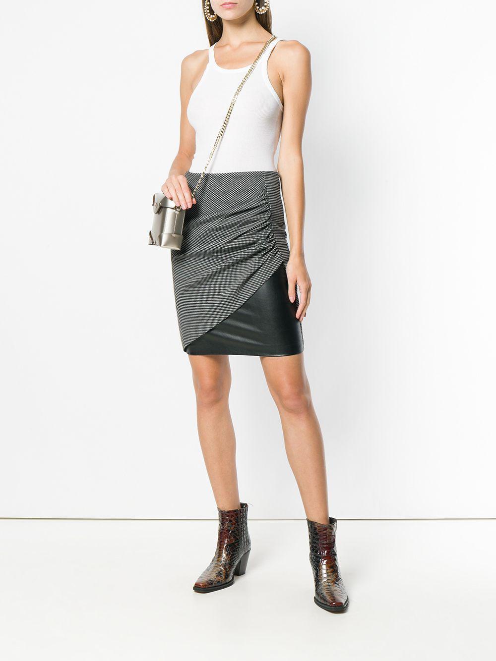 74477d92296 Pinko - Black Folded Pencil Skirt - Lyst. View fullscreen
