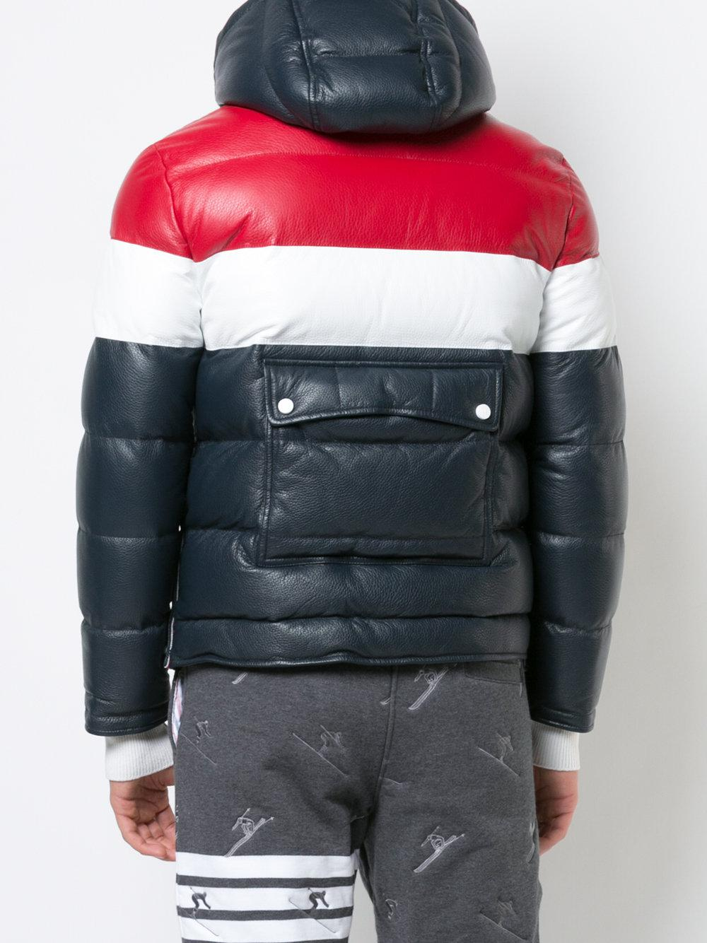 Lyst - Thom Browne Downfilled Three Panel Leather Ski ...