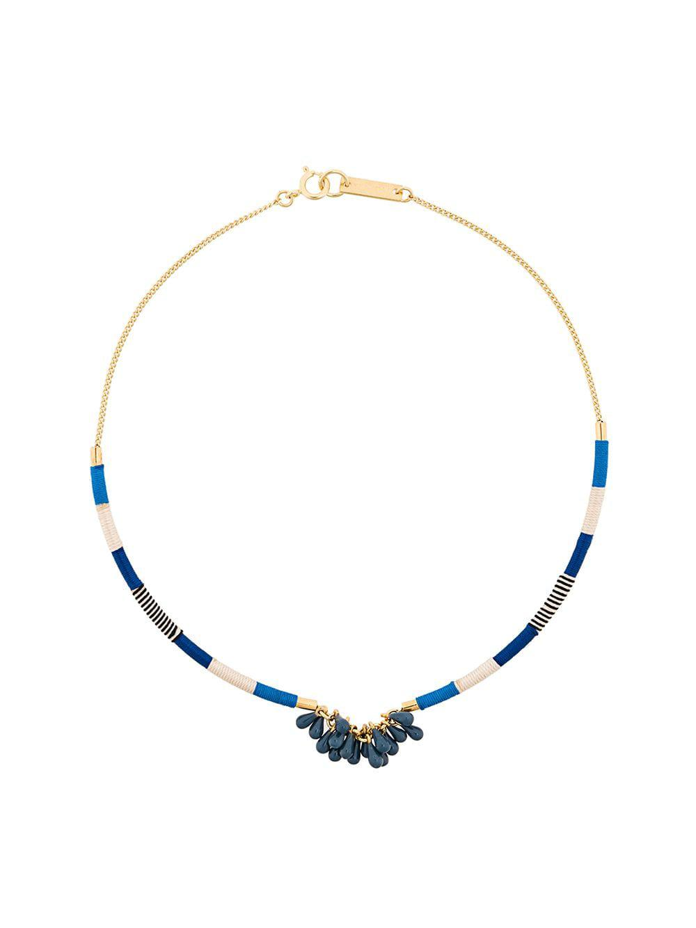 Étoile Isabel Marant Synthetic Beaded Cord Necklace in Blue