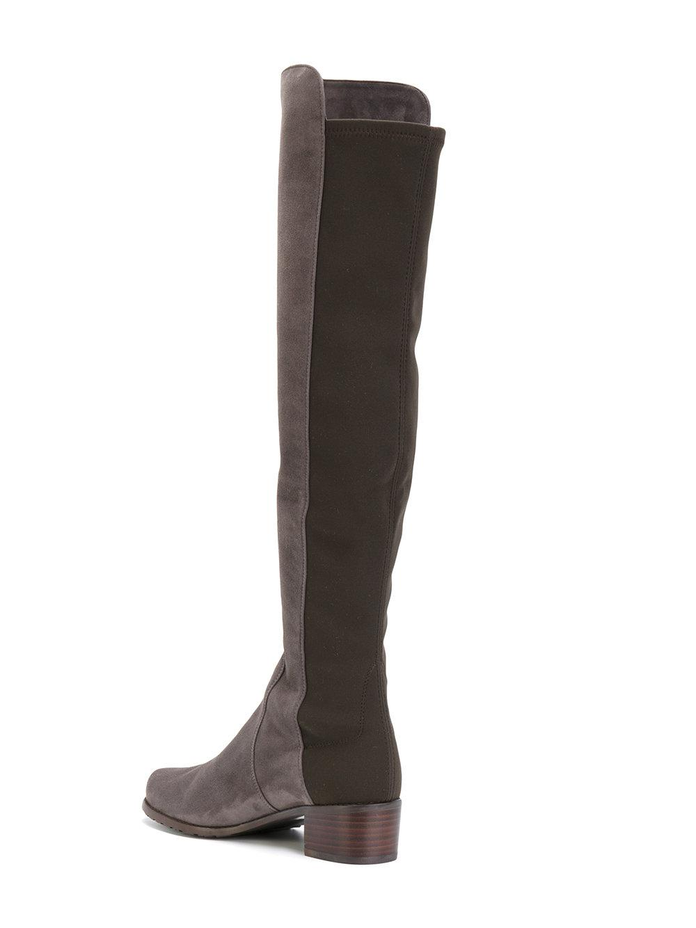 5751c1ae5bad Lyst - Stuart Weitzman Reserve Knee High Boots in Gray