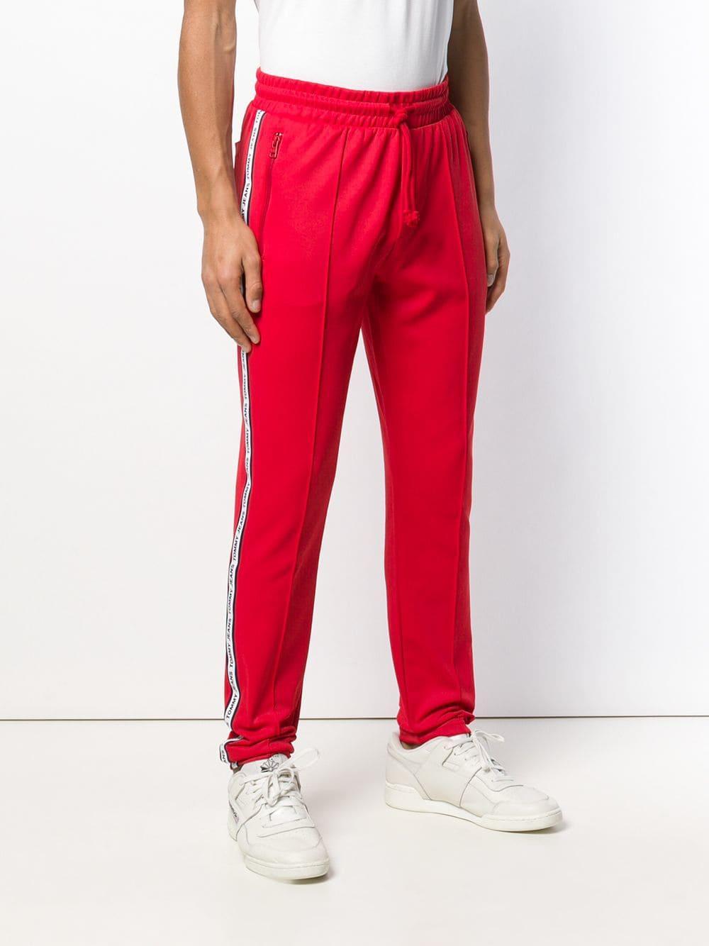 30e00882931 Tommy Hilfiger - Red Pantalones de chándal con ajuste de cordón for Men -  Lyst. Ver en pantalla completa