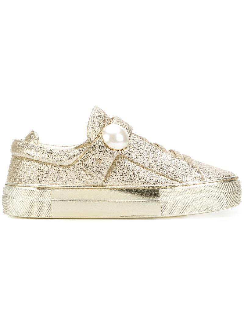 Nicholas Kirkwood Sneakers 'Pearlogy' - Metallic farfetch bianco Calidad pVrPt