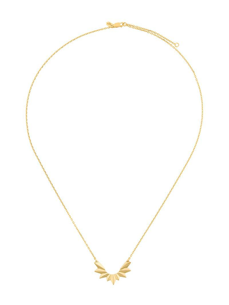 Maria Black Wing necklace - Yellow & Orange BVlrjFbSb