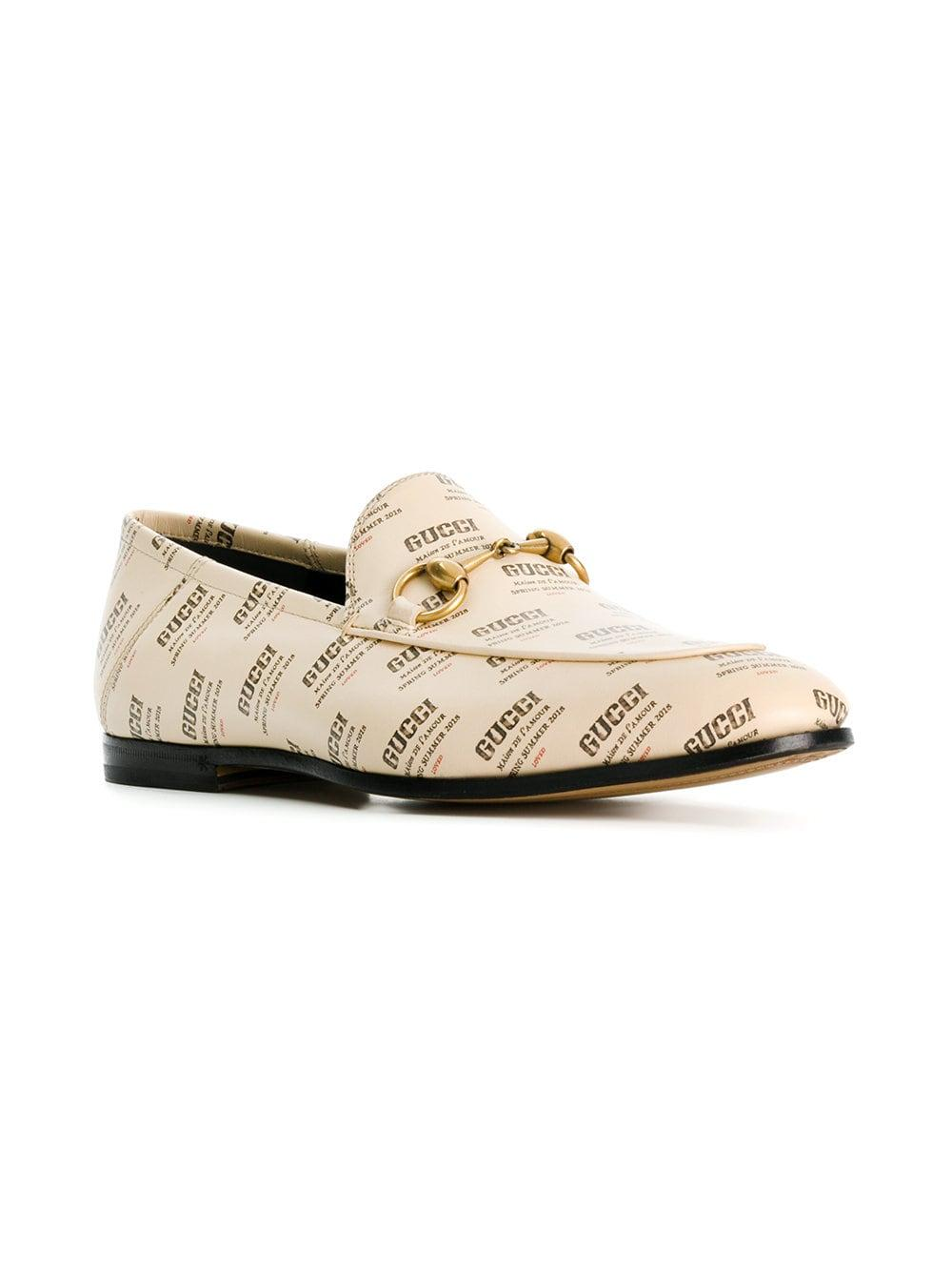 fe48deb7ac9 Lyst - Gucci Stamp Loafers for Men