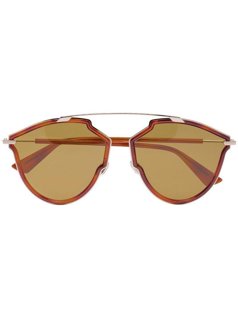 Lyst - Lunettes de soleil DiorSoRealRise Dior en coloris Marron 1ed81625d936