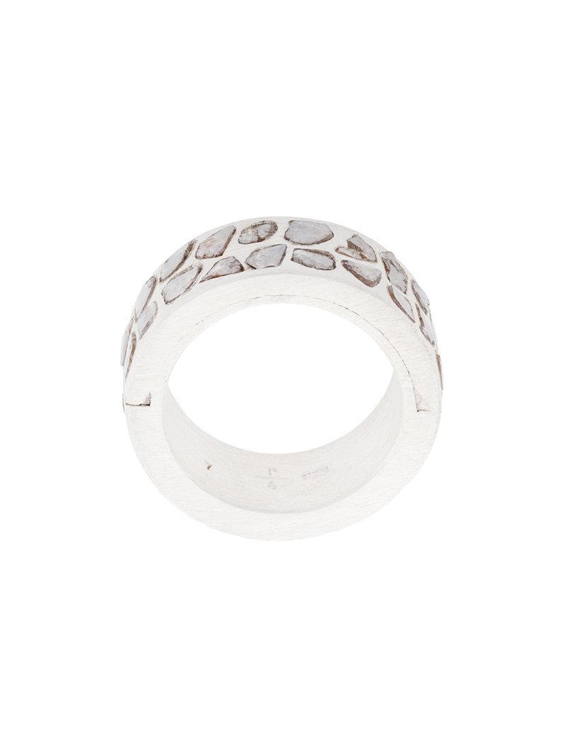 Parts Of Four Mega Pave Sistema ring - Metallic p4VIoAbn6L