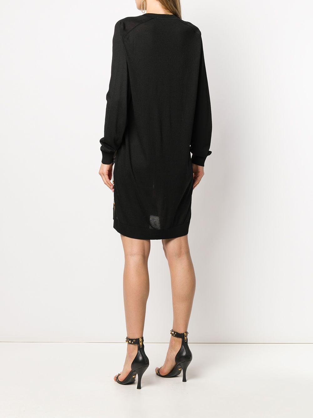 Robe imprimée Barocco Rodeo Soie Versace en coloris Noir