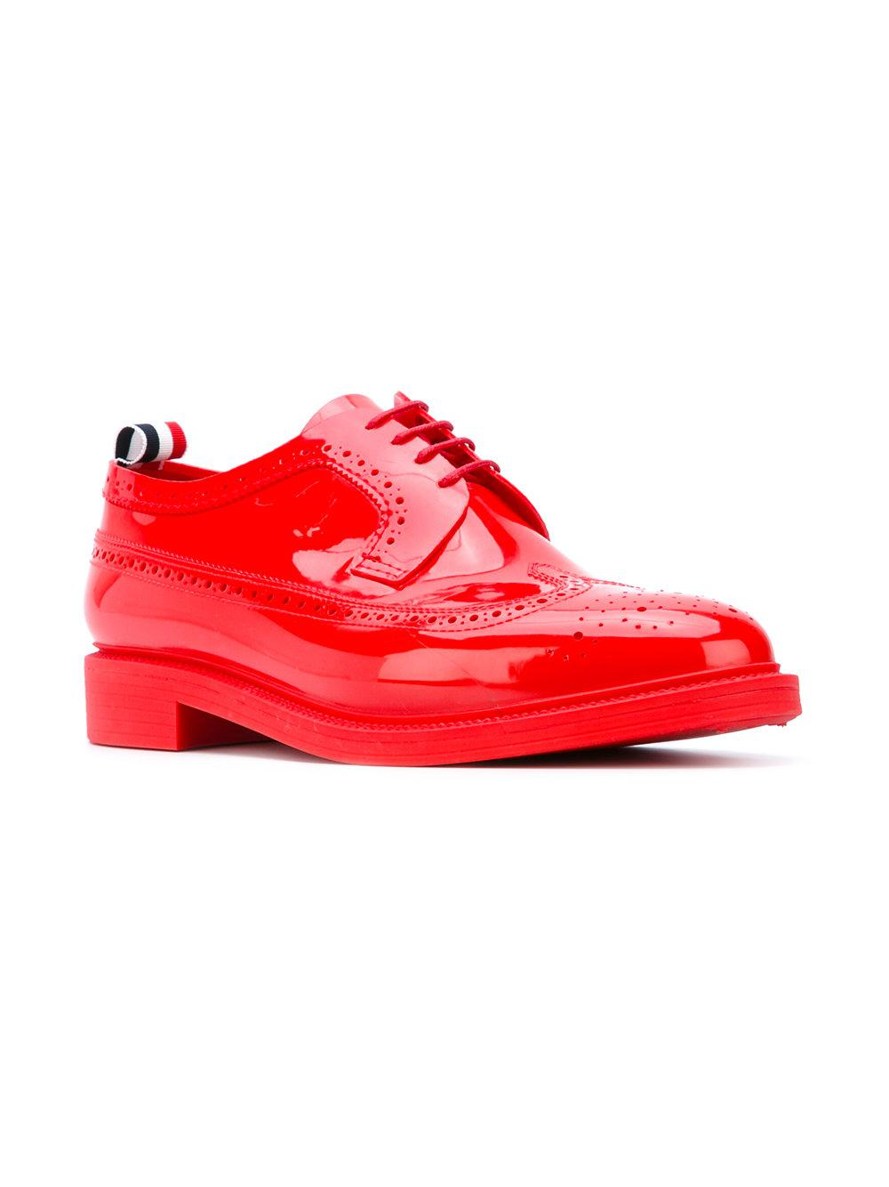 Thom Browne Rubber Varnish Brogues in Red for Men