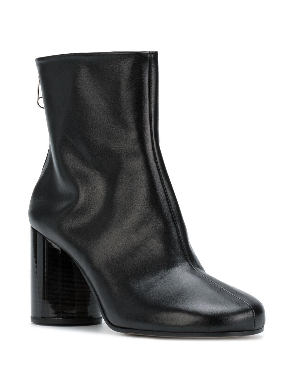 Maison Margiela Leather Socks Ankle Boots in Black