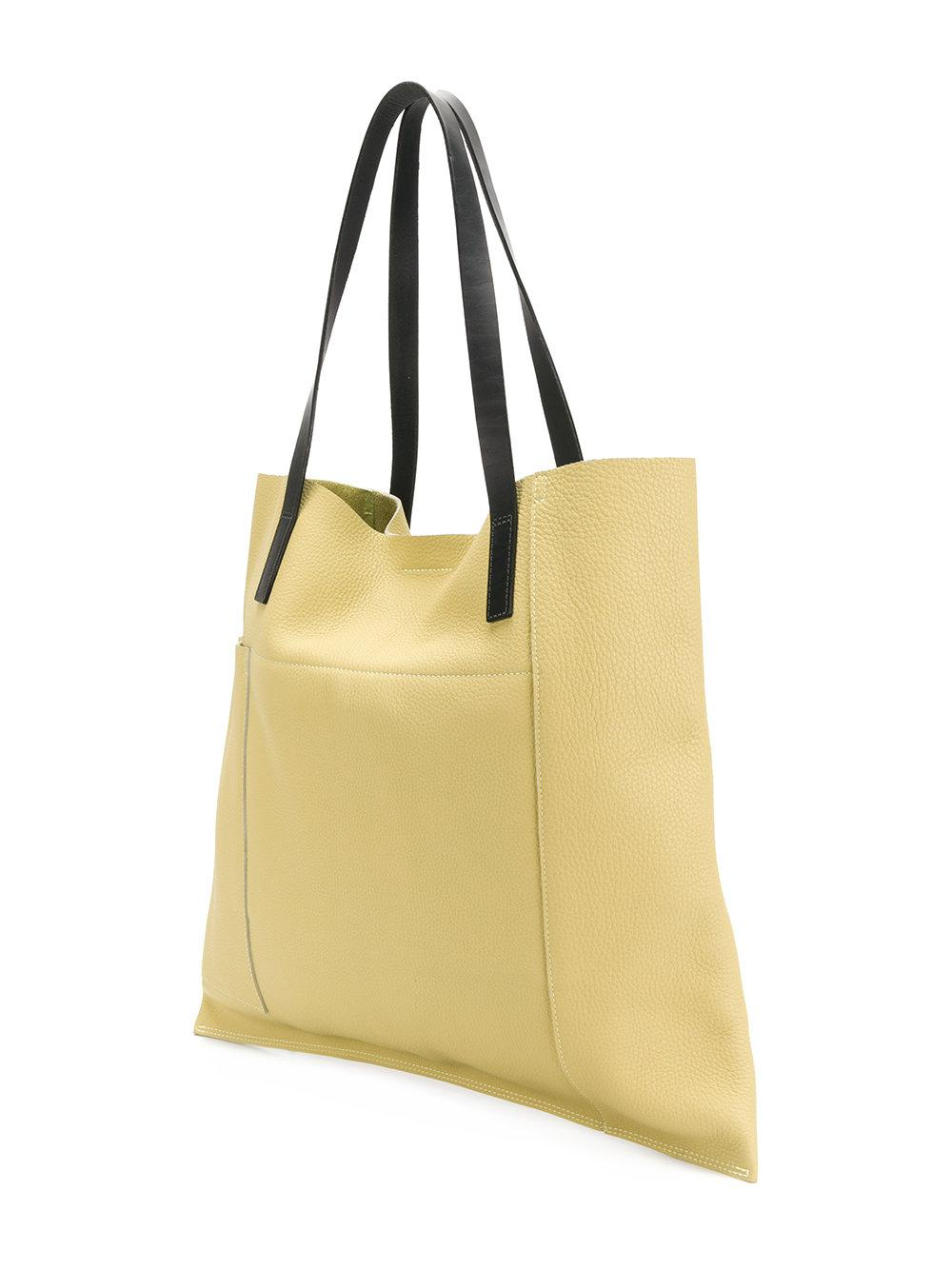 Ally Capellino Leather Verity Tote Bag in Yellow & Orange (Yellow)