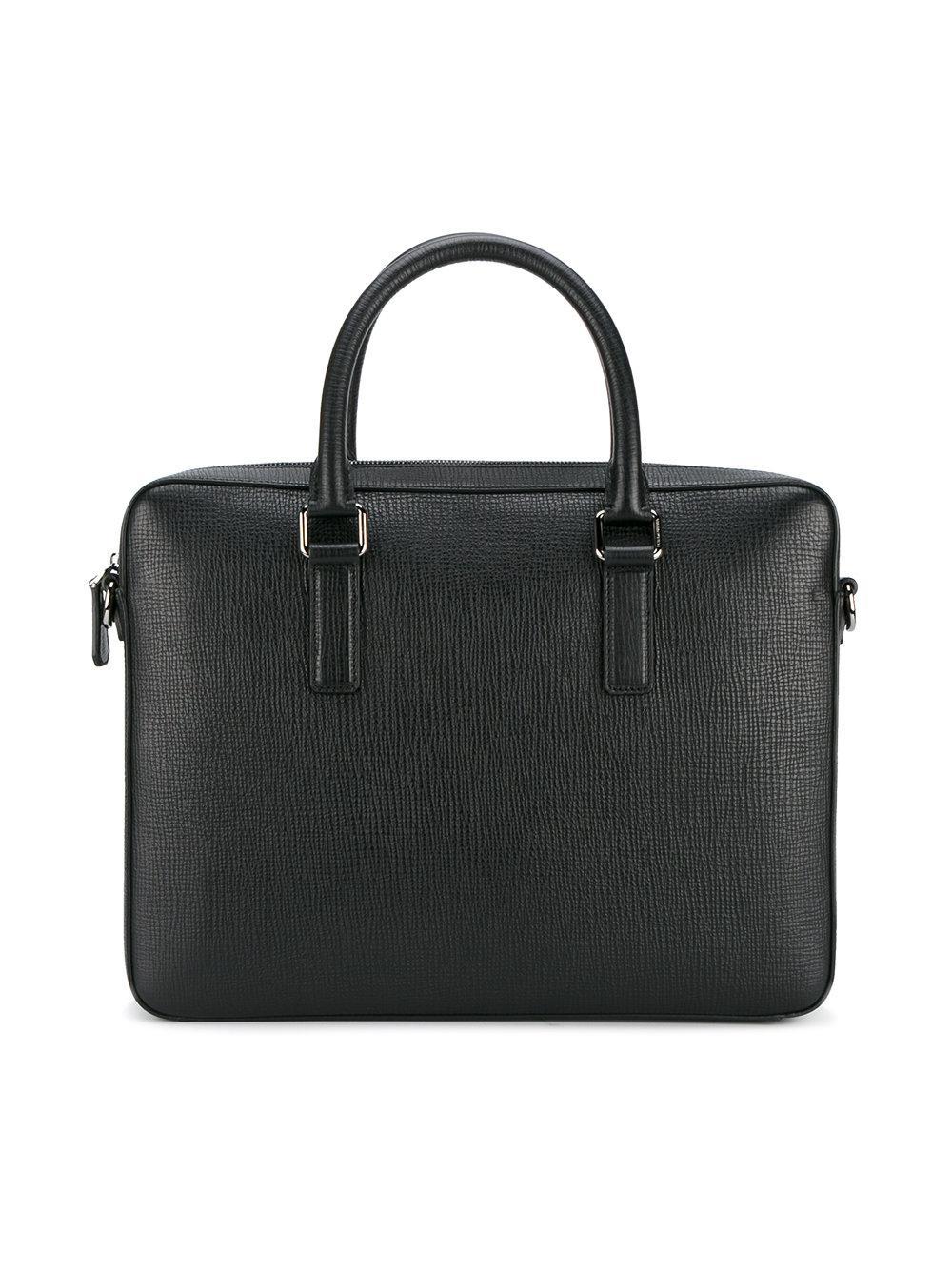 Dolce & Gabbana Leather Crossbody Laptop Bag in Black for Men