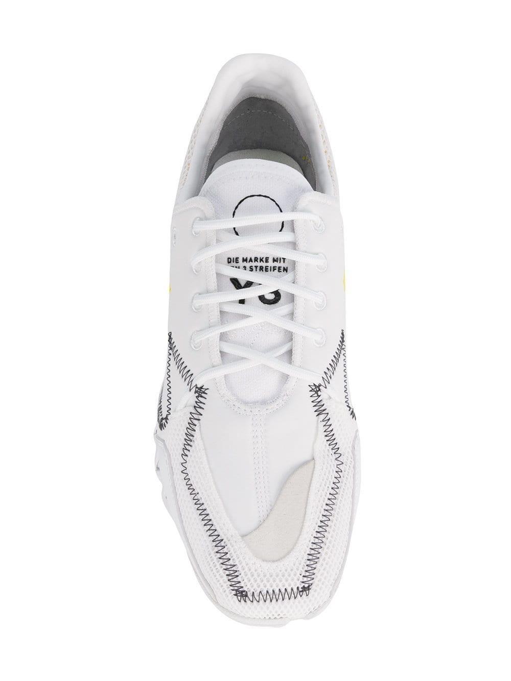 Y-3 Leather Y3 Adidas X Yohji Yamamoto Ekika Trainers in White