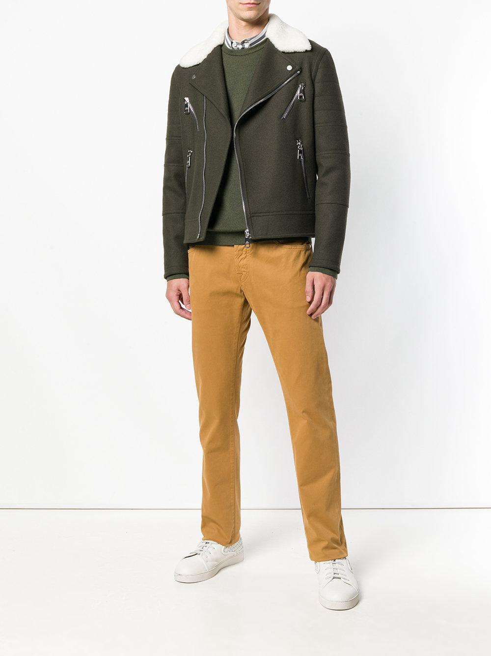 Jacob Cohen Synthetic Straight Leg Jeans in Brown for Men