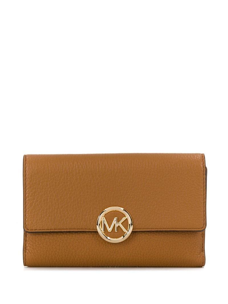 8c177464c326 Lyst - MICHAEL Michael Kors Logo Trifold Wallet in Brown for Men