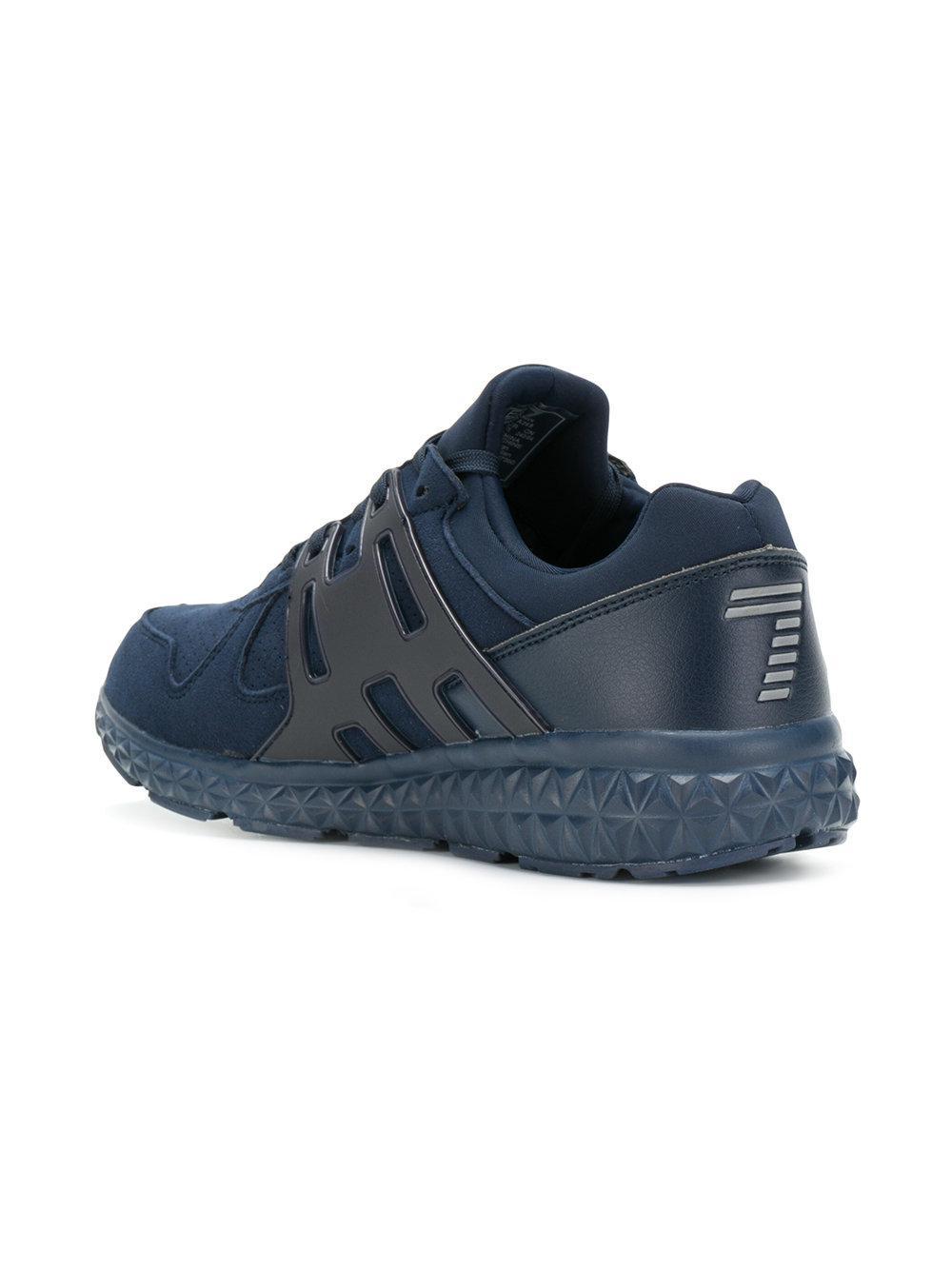 EA7 Synthetic C2 Light Sneakers in Blue