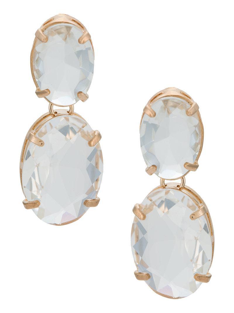 Serpui crystal embellished earrings - Metallic 6O6gzm1