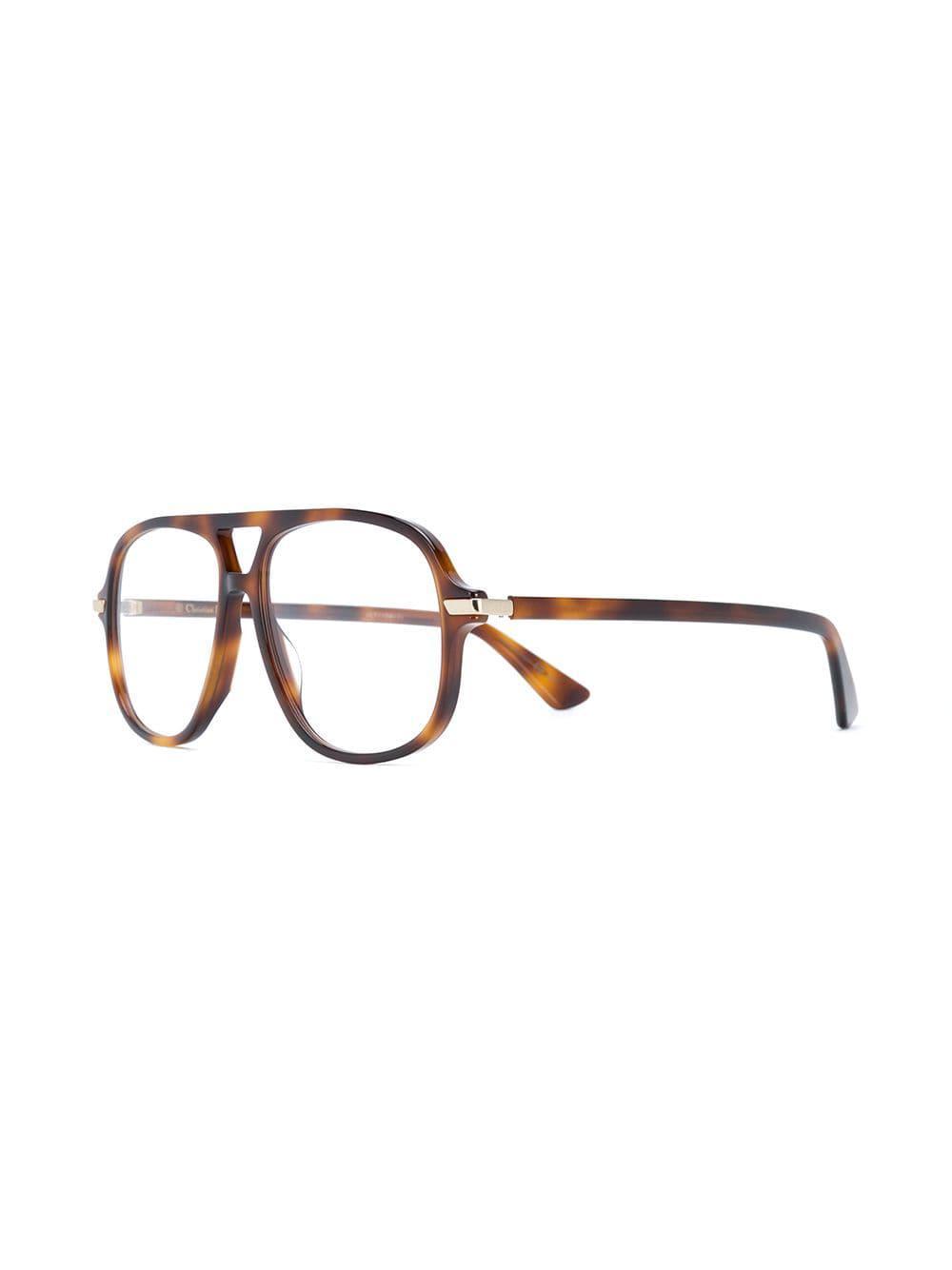 3c4e8e8d270 Dior - Brown Essence Tortoiseshell-effect Glasses - Lyst. View fullscreen