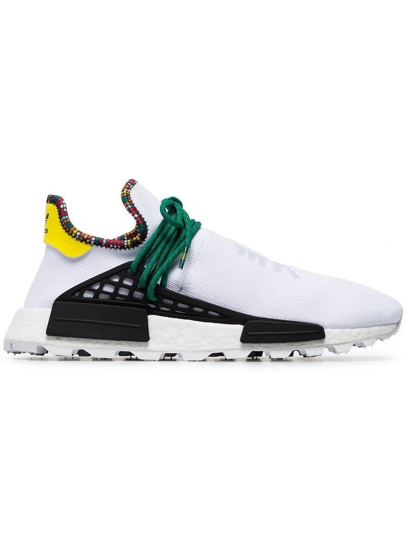 41bdcc369 adidas X Pharrell Williams White Human Body Nmd Sneakers in White ...