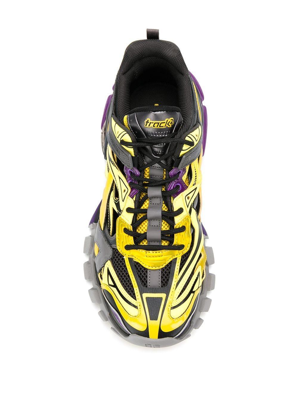 Zapatillas bajas Track.2 Balenciaga de Caucho de color Gris para hombre